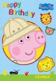 amazon com peppa pig george happy birthday card toys u0026 games
