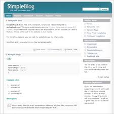 simple blog 1 0 template free website templates in css html js