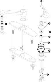 Moen Kitchen Faucet Parts Bathroom Sink Plumbing Parts Diagram