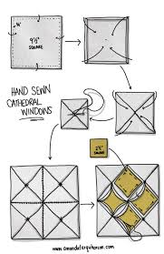 mar 12 sewn cathedral windows tutorial cathedral windows