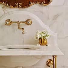 Bridge Faucet Bathroom by French Gold Bathroom Faucet Design Ideas