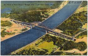 air view of new bourne bridge over cape cod canal mass digital