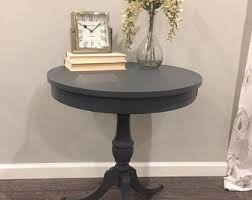 Antique Accent Table Laser Cut Wood Triple Pedestal Tableaccent Furniturewood
