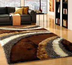 Pottery Barn Shag Rug by Brown Silver Hand Made Shag Rug With Rug Pad 5 X 7 Ft Brown Shag