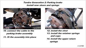 toyota tundra how to repair and replace parking brake yotatech