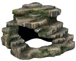 10 trixie turtle steps reptile cave corner rock platform fish