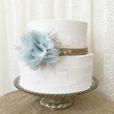 Shabby Chic Baby Shower Cakes by Burlap Cake Topper Powder Blue Burlap By Denadanielledesigns