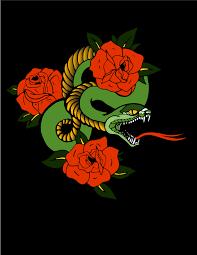 snake in roses harmon