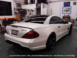 mercedes land rover white mercedes benz sl55 wrapped in satin pearl white by dbx diamond