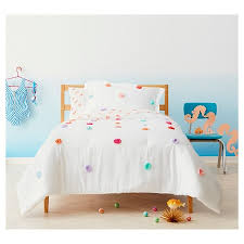 Rainbow Comforter Set Pom Pom Comforter Set Twin 2 Pc Multicolor Pillowfort Target