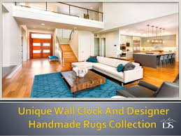 unique wall clock and designer handmade rugs collection