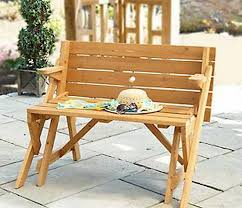 Folding Picnic Table Bench Plans Free by Interchangeable Picnic Table Or Garden Bench Mpg Act04