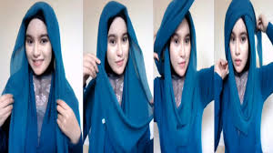 tutorial hijab noura tutorial hijab simple 1 menit by fety noura youtube