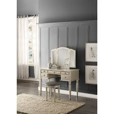 Mirror Vanity Furniture 7 Drawer Vanity Table With Chair Free Shipping Today Overstock