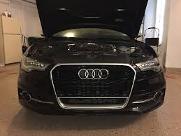 audi rs6 headlights how to remove s6 bumper install led headlights install rs6