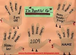 thanksgiving handprint footprint crafts list handprint
