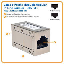 amazon com tripp lite cat5e straight through modular in line