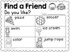 how to find a classmate back to school second grade activities school and teaching ideas