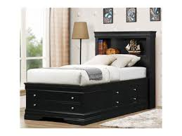 bedroom light wood queen size captain bed with storage unit and