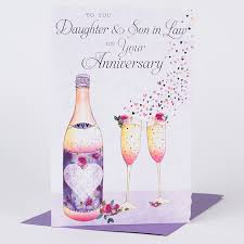 anniversary card in chagne only 99p