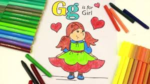 drawing alphabets and coloring alphabet letter g coloring