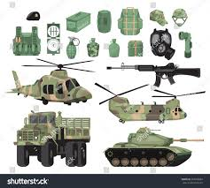 military vehicles flat vector design elements military vehicles stock vector