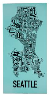Maps Of Chicago Neighborhoods by Seattle Neighborhood Type Map Posters U0026 Prints Made In The Usa