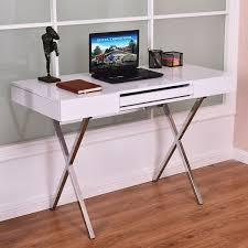 metal computer desks workstations costway computer desk pc laptop table workstation metal frame wood