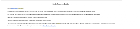 united airlines send basic economy warning emails to customers