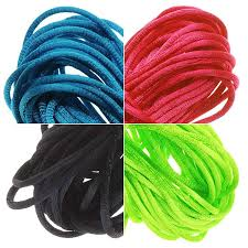 rattail cord satin rattail cord 1mm neon mix 4 color 6 yd ea black dk