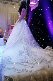 princess wedding dresses with bling luxurious white ivory silver beaded bling princess wedding gown
