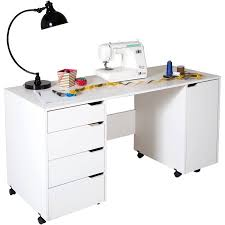 south shore craft table south shore crea sewing craft table on wheels white walmart com