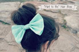 bow for hair big mint hair bow on the hunt