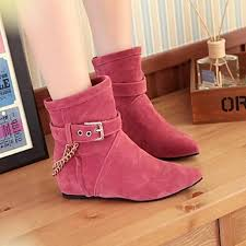 womens flat ankle boots nz s shoes nz pointed toe flat heel flocking ankle boots more