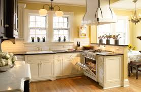 White Kitchen Dark Island Yellow Kitchen Cabinets Home Decoration Ideas
