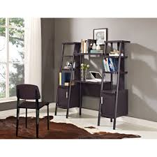 Ladder Desk With Shelves by Leaning Wall Desk With Shelves Home Office Furniture Set