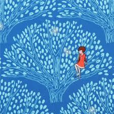 blue tree fabric michael miller tree lights kawaii fabric shop
