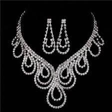 collier de mariage 2017 necklaces ensemble de bijou en argent