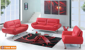 living room red leather sofa set oval glass transparent coffee