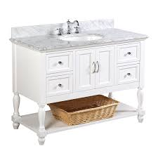 Beverly Inch Bathroom Vanity CarraraWhite Includes - Bella 48 inch bathroom vanity white