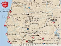 map of oregon near crater lake to road tripping from the southern oregon coast to