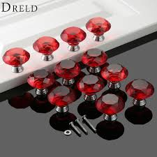 Kitchen Cabinets Knobs And Handles Online Get Cheap Red Glass Cabinet Knobs Aliexpress Com Alibaba