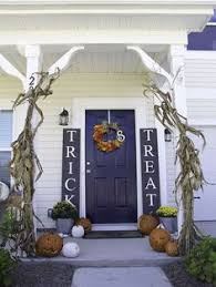 Halloween Outdoor Decorations Stars And Stripes Rag Wreath Halloween Porch Porch And Ravens
