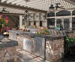 ideas for outdoor kitchen kitchen extraordinary ideas for outdoor kitchen decoration with
