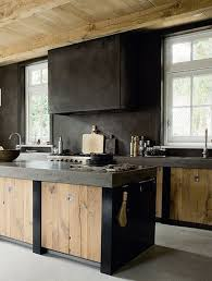 weathered wood island kitchens