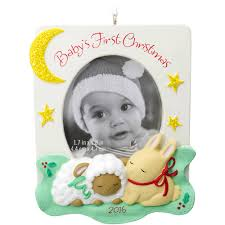 hallmark baby u0027s first christmas photo frame ornament walmart com