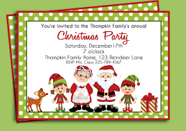 christmas party invitation template kawaiitheo com