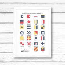 Flag Signals Meaning International Maritime Signal Flags Alphabet Print U2013 Tabitha Mary