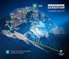 Map Of Everest Follow The Journey Of The First Active Duty Soldiers To Summit Mt