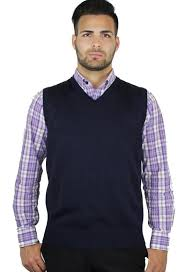 buy solid color sweater vest for blue clothing